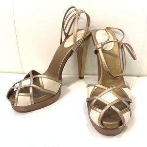 CHLOE Bi-Color Sandals Sz 40